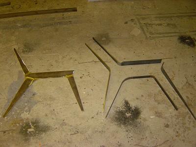 鉄製長椅子溶接前