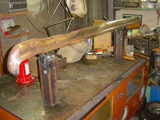鉄製バンパー補修