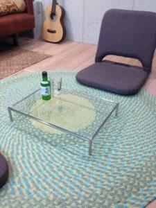 ミニガラステーブル
